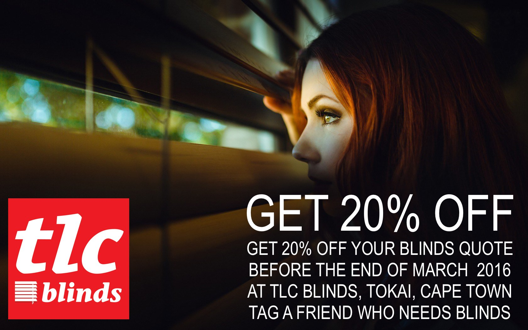 tlc blinds cape town blinds special 20% off March