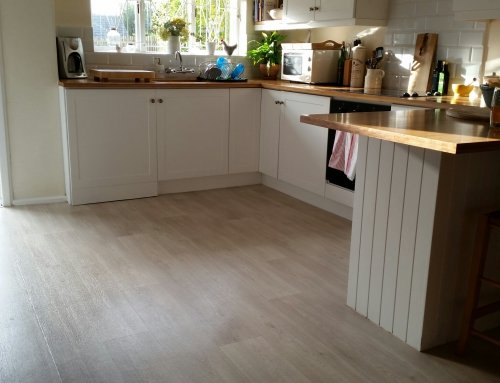 Oak Sheet Vinyl Flooring Recent Installation