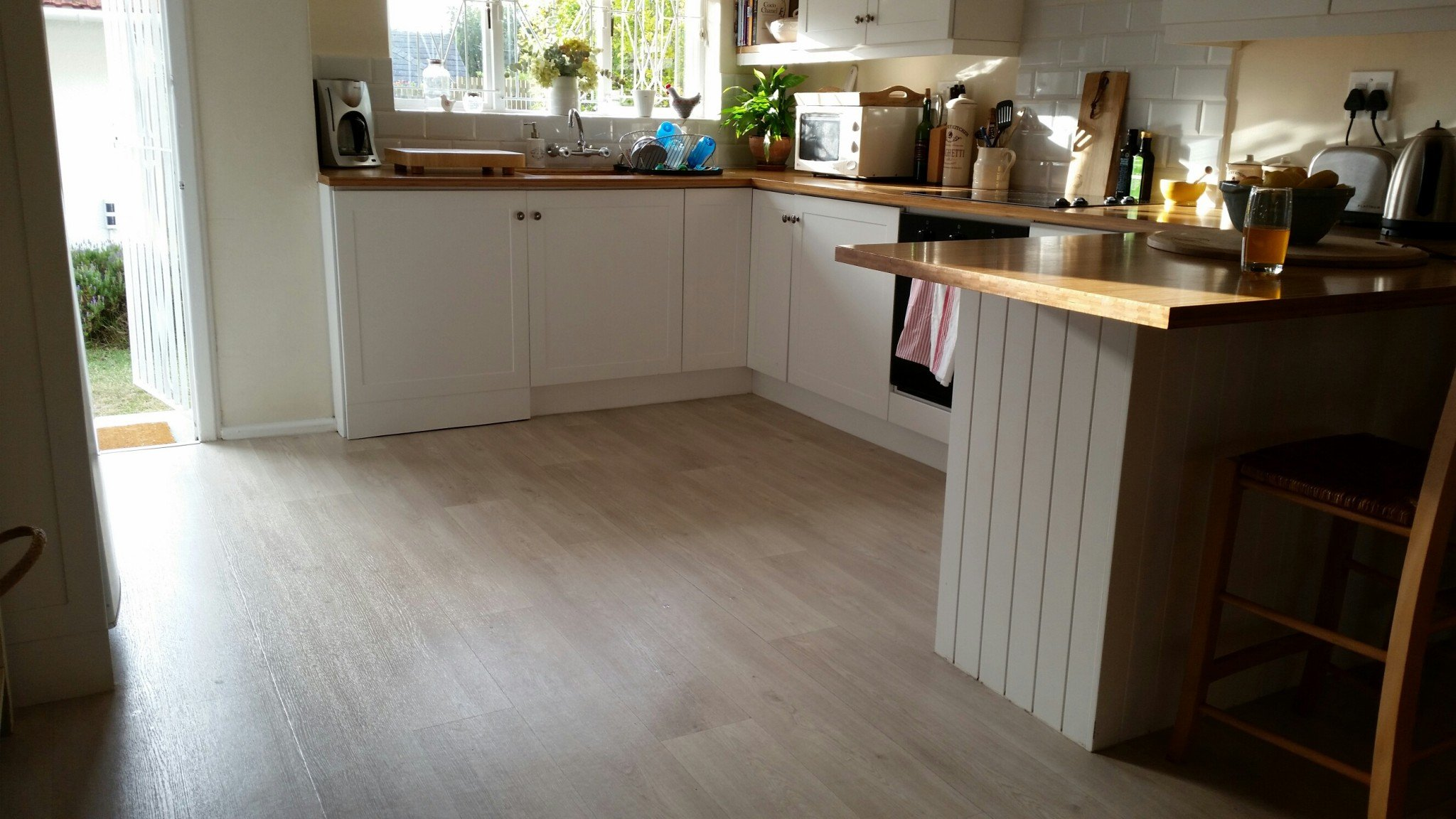 Columbian Oak Sheet Vinyl Flooring - perfect for kitchens & bathrooms. Also soft underfoot.