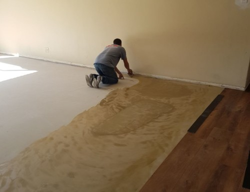 The importance of a smooth floor prior to gluing down vinyl