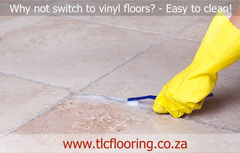 cleaning floors - switch to vinyl flooring