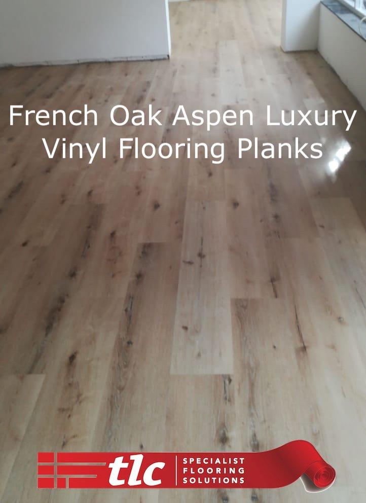 Aspen Luxury Vinyl Flooring Planks - French Oak - TLC Flooring 1
