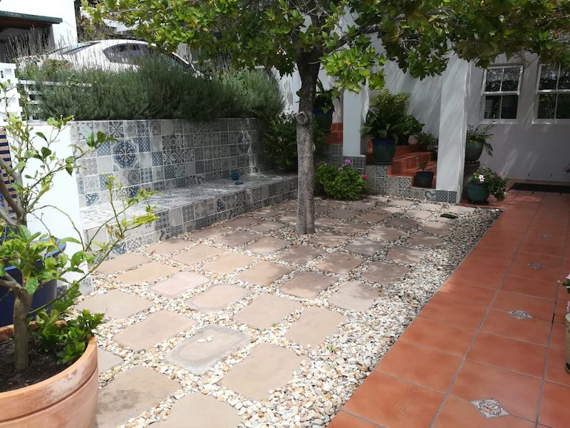 Artificial Grass Installation in Hout Bay 30mm Designa Turf Before
