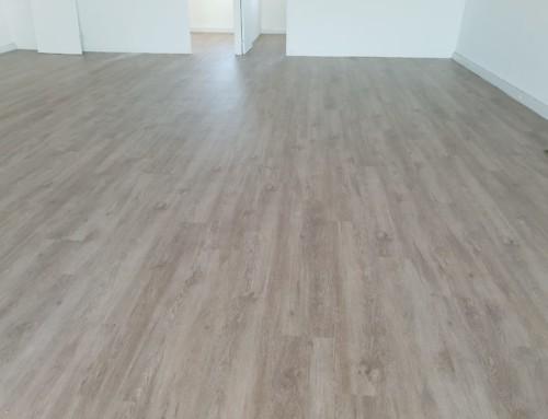 120sqm light commercial office space vinyl flooring installation