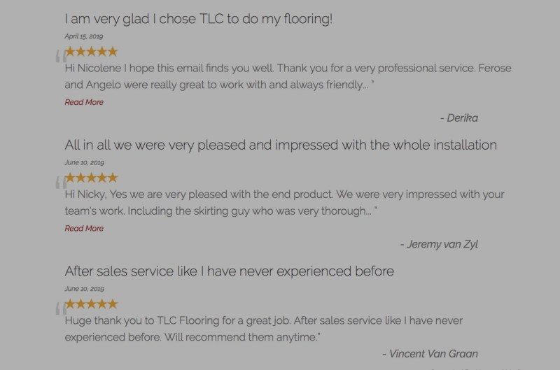 TLC Flooring Company Reviews