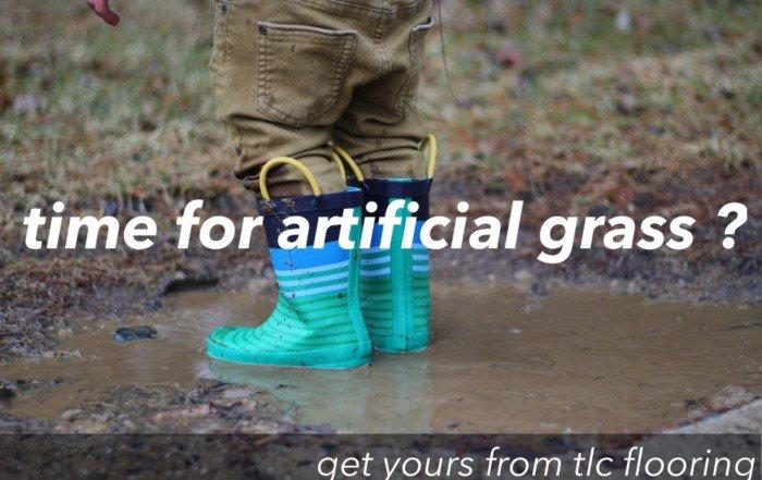 synthetic grass installation - artificial grass - tlc outdoor mud 1