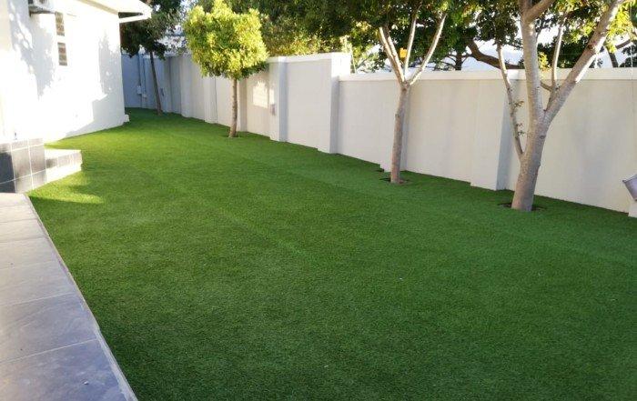 Artificial grass installation after photos