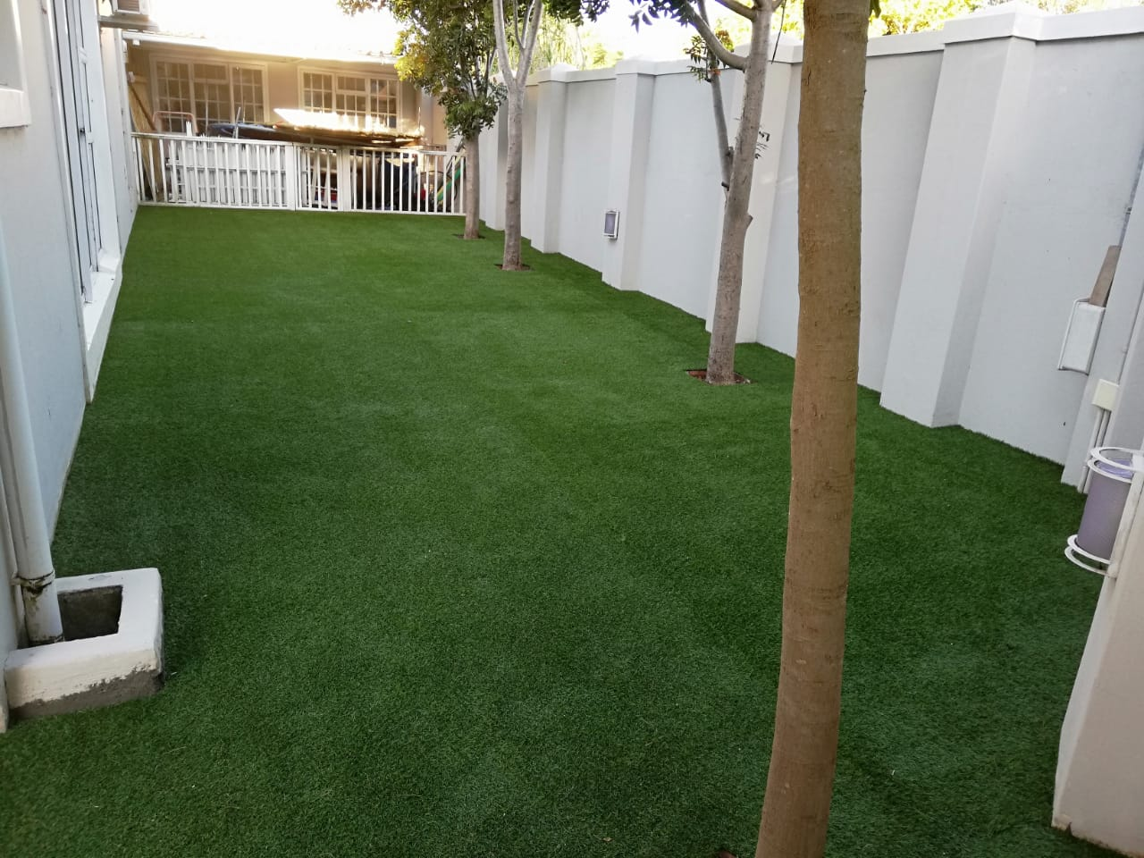 Artificial grass installation after photos