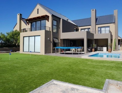 Recent artificial grass installation in Somerset West
