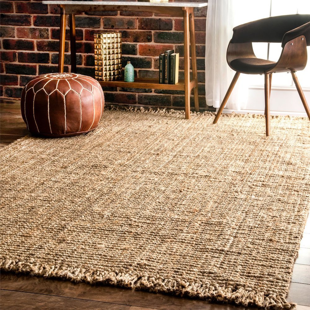 nuLOOM-Natural-Hand-Woven-Chunky-Loop-Jute-indoor rugs outdoor rugs - tlc flooring