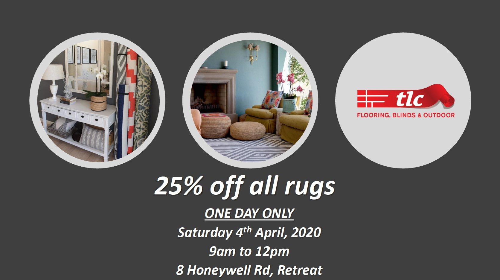 tlc flooring one day sale flash sale rug sale