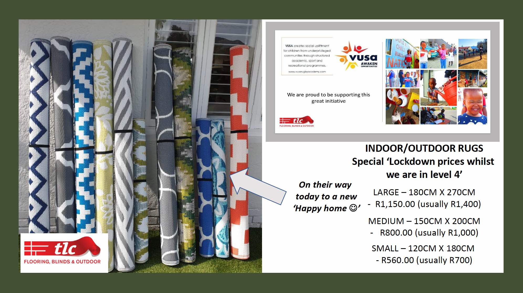 indoor outdoor rugs special lockdown prices - tlc flooring