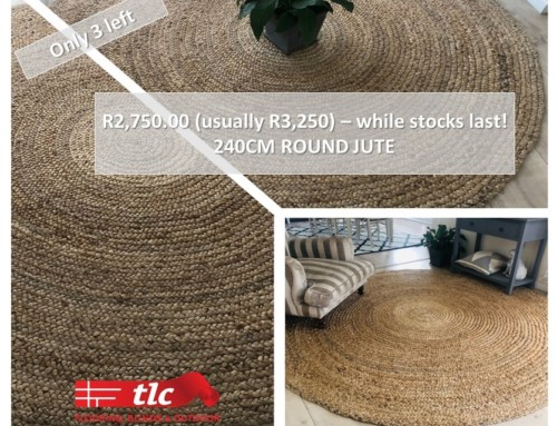 240cm Round Jute Rug, Only 3 Left