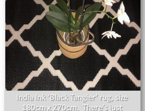 India Ink Rug. Black Tangier