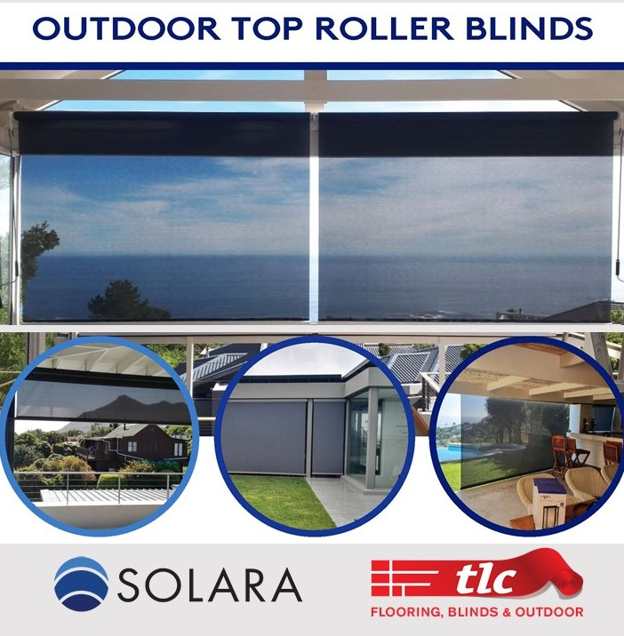 outdoor top roller blinds - tlc flooring blinds and outdoor