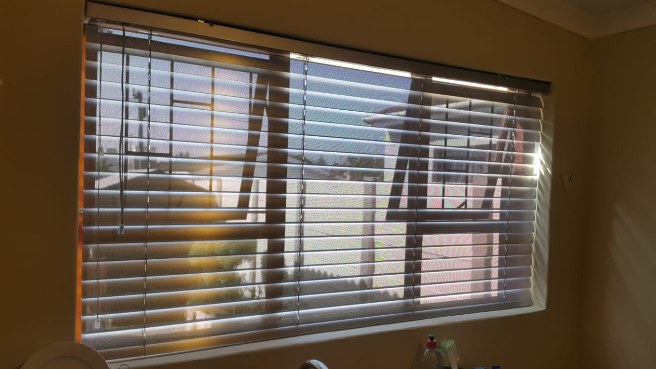 Silver 50mm Perforated Venetian Blinds 2