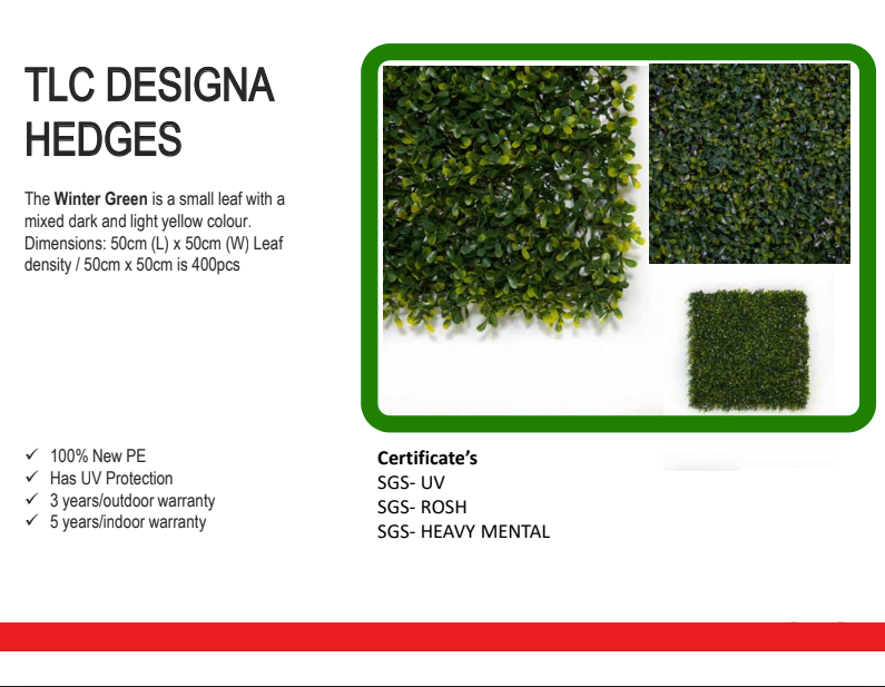 tlc designa hedges